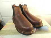 Duluth Trading Co Brown Leather Chelsea Ankle Boot Men Size 10w - Usa