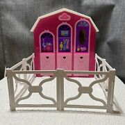 Barbie And Her Sisters In A Pony Tale Stable Playset W/ Foldable White Corral