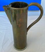 Brass Pitcher Made From Ww1 Artillery Shell Vintage Patinated