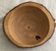 Early American Old Tree Trunk Hand Carved Redwood 12andrdquo Bowl