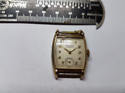 Semca Vintage Square 17 Jewel Watch Runs For You To Fix Glass