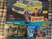 Playmobil 70286 Scooby-doo Mystery Machine With Fred, Daphne, And Velma. Shaggy