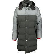 Gg Down Feather Coat Black And Grey