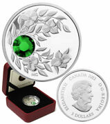 2012 Proof 3 And039may Birthstoneand039 Crystal Silver .9999 Fine 05 E