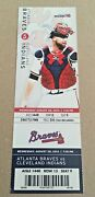 Craig Kimbrel Win 14 August 28 2013 8/28/13 Braves Indians Full Ticket