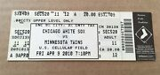 Drew Butera Debut First Game April 9 2010 4/9/10 White Sox Twins Full Ticket