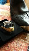 New Antique Gold Colored Cowboy Boot Tips/toe Plates For Pointy J Toed Boot