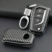 For Toyota Camry/c-hr 18-20 Carbon Fiber Pattern Soft Silicone Car Key Fob Cover