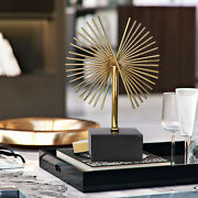 Modern Geometric Gold Table Decor Metal Ornaments Accessories Christmas Gift