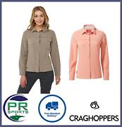 Brand New Craghoppers Womens Nosilife Pro Ii Long Sleeved Shirt