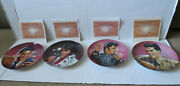 Set Of Eight Elvis Presley Commemorating The King Collector Plates W/ Coa U