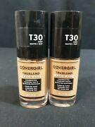 Lot Of 2 Cover Girl Trublend Matte Made Liquid Foundation, T30 Warm Honey