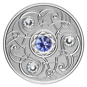 2020 Proof 5 And039september Birthstoneand039 Crystal Silver .9999 Fine 09