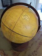 Vintage Crams Imperial World Globe On Wood Base Stand Tabletop Rustic 12 Inch