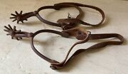 Antique North And Judd Cowboy Spurs 10 Pt. Rowels Late 1800s Anchor Marked