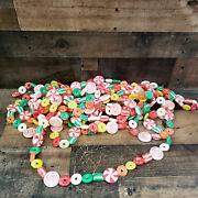 36 Feet Of Vintage Glittered Sugared Gum Ball Candy Christmas Garland Blow Mold