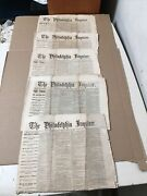 Lot Of 5 Philadelphia Inquirer Civil War Newspapers Trial Of Assassins May 1865