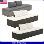 Garden Sofa Bed Lounge Chaise Chair Patio Furniture Set Poly Rattan Furniture