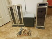 Rare Genuine Brookstone Acousticlear 3cd - Stand Up Cd Player