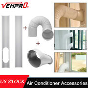 Portable Air Conditioner Accessories 2pcs Window Slide Kit Tube Connector Hose