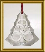 Mint Waterford Five Golden Rings Crystal Tree Ornament 199912 Days Christmas