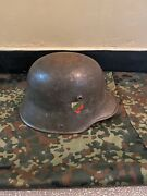 Wwi Imperial German M16 Helmet Original Wwi Produced For The Bulgarian Army
