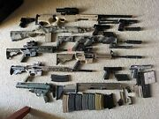 Large Lot Of Airsoft Guns Parts And Accessories 2