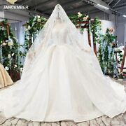 Htl782 Long Sleeve Ball Gown Wedding Dress V-neck Like White Wedding Gown With