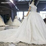 Htl1604 Beaded Luxurious Holy White Princess With Feathers Wedding Dress 2020