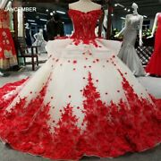 Lss037 Red 3d Flowers High Quality Dresses Quick Shipping From China Off