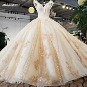 Ls37410 New Design Luxury Champagne Color And Pink Decorate V Neck Open Key