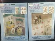 Springs Art Works Decorative Transfers Antique Toys Bunny Baby Room Lot Of 2