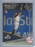 2017 Topps Now 771-aaron Judge- Two Incredible Catches Help Limit Astros Offens