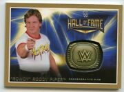 2016 Topps Wwe Road To Wrestlemania Hf Ring Gold Card- Rowdy Roddy Piper 03/10