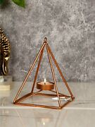 Geometric Tealight Candle Holder Stand For Home Decoration11.4 X 11.4 X 15.2cm