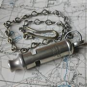 Original Ww1 1916 Trench Whistle War J Hudson British Army Officer Wwi Somme
