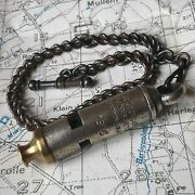 Original Ww1 1916 Trench Whistle, De Courcy British Army Officer Wwi Military