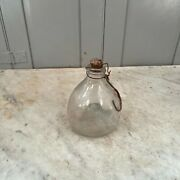 Antique Spanish Provincial Glass Wasp Trap Fly Catcher