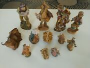 Fontanini Lot Depose Italy Nativity Figures Vintage Lot Of 12 Pieces Collectible