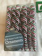 Twisted Candy Cane Ornaments Red White Green Icicles 25 Pk And 4 Pk 29 Total