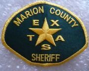 Patch Marion County Texas Sheriff Police Patch 80 Mm X 105 Mm New
