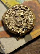 Hand Poured Aluminum Bronze Pirate Coin Gold Color Collection Jewelry Or Hobby