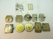 Bulova Waltham Elgin Watch Lot Of Several Movements For Repair Or Parts