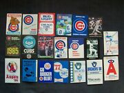 20 Mlb Baseball Team Pocket Schedules - Chicago Cubs Angels Dodgers Brewers