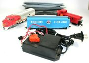 Bachmann Ho Train Set Santa Fe 307 Engine, Box Car And Caboose In Great Cond