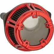 Arlen Ness Red Method Clear Series Air Cleaner For Harley M8 17-20 1010-2530