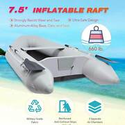7.5and039 Inflatable Boat Hunting Fishing Raft For Adults On Lakes Rivers More