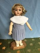 Pristine Handmade Bleuette Reproduction Wood And Bisque 11.5andrdquo Doll