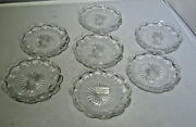 Vintage Heisey Glass Individual Nut/butter Pricilla Set Of 8