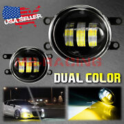 White/yellow Dual Color 20w High Power Led Fog Light Kit For 06-21 Toyota Yaris